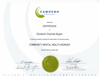 Elizabeth -CMH Certificate