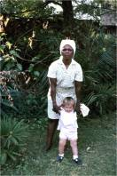 Rosemary, our African Nannie with Elizabeth